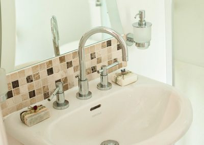 Modern sink in the Bedford ensuite bathroom