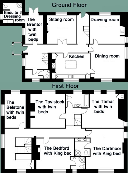 Whitelady House floor plans