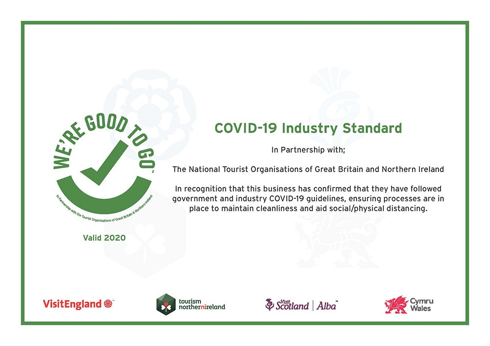 We're Good to go COVID-19 certificate